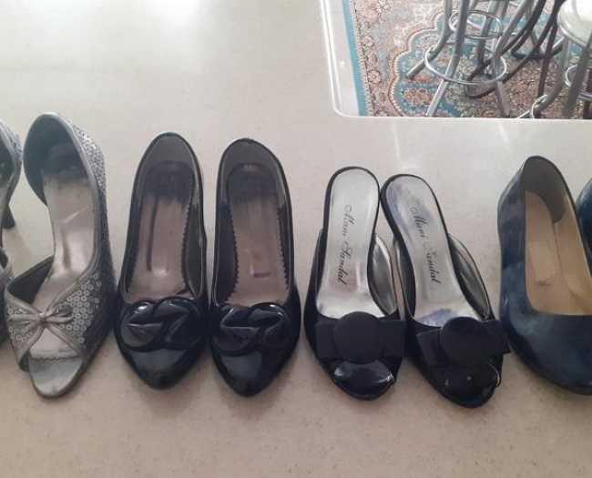 کفش مجلسی سایز ۳۷ و۳۸.بسیارسالم ۴جفت